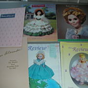 6 Vintage Madame Alexander Doll Catalog and The Review Convention Magazines