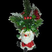 SOLD Vintage Mid Century Relpo Santa Planter Christmas Head Vase Headvase