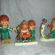 3 Vintage Goebel Red Head Figurines by Charlot Byi