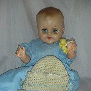Vintage Molded Hair Vinyl Drink and Wet Baby Doll