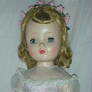 SALE Vintage Madame Alexander Hard Plastic Doll 1954 Flower Girl Walker Doll