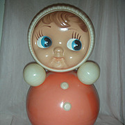 SALE Vintage Large 16 inch Roly Poly Musical Doll USSR Nevalyashka Matrioshka Celluloid Toy