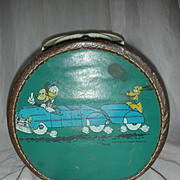 Vintage Walt Disney Revel Mickey Mouse Round Doll Case for Tiny Tears or Dy-Dee