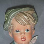 Unusual 6 inch Boy Head Vase Planter Head Vase