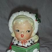 Vintage Napco Christmas Headvase Head Vase Planter