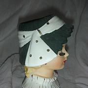 Vintage Napco Holiday Headvase Lady Head Vase Planter