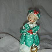 Vintage Christmas Holiday Angel Birthday Figurine December Zircon