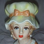 Vintage Inarco Lady Head Vase Headvase