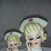 Rare Large Nurse Head Vase Planer Headvase