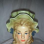Vintage Enesco Teenage Head Vase Headvase Planter 8 inches