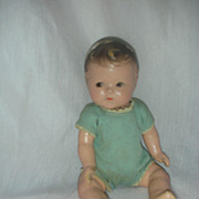 Vintage Madame Alexander quintuplet doll 8 inch Quint Tagged Romper
