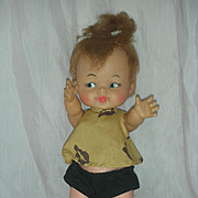 Vintage 1960s Ideal Pebbles Doll from Flinstones