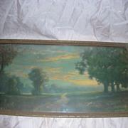 SOLD Vintage Atkinson Fox Print with Original Frame Ar Deco
