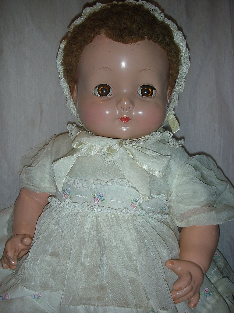 Vintage Effanbee Sweetie Pie Baby Compo Doll Large Size Great Condition