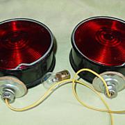 SOLD Truck Trailer Red Brake Light Assembly Peterson 410-15 Red Lens PM-412 Frame