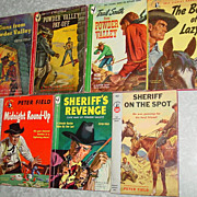 SOLD Peter Field Bantam & Pocket Books Western Cowboy Powder Valley Sheriff Round Up Lot
