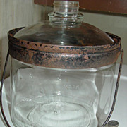 REDUCED Perfection Stove Co Glass Kerosene Bottle Jug Jar Oil Heater Dispensing Cooking Clevel