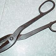 SOLD J. Wiss & Sons Newark N.J. Tin Snips Sheet Metal Cutting Shears Fabrication Straight