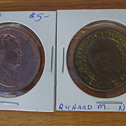 REDUCED President Richard M Nixon Coin U.S. Mint  Inaugural 1969 & Sunoco Presidential ...