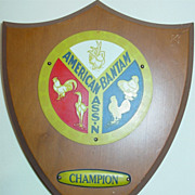 REDUCED American Bantam Association Champion Plaque  Chicken Rooster Breed Exhibition Prize