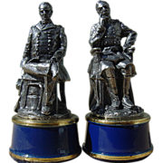 Franklin Mint Civil War Chess General William Tecumseh Sherman & Meade Pewter Bishop