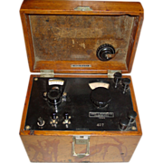REDUCED Leeds & Northrup Potentiometer Indicator Double Range Electrical Testing Wood Case