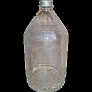 REDUCED Abbott Laboratories Hanging IV Glass Bottle 1000ml Medical Dex.5% Aluminum Cap Medicin