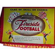 Fireside Football Board Game Playing Cards Spinner Dice Darts Rochester 1947 as is