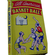 Basketball All American Basket Ball Board Game Corey 1941 WWII Era Jr. Edition as is