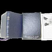 REDUCED Harper RSV Tiny New Testament Revised Standard Version Blue Leather Gold Edges