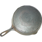REDUCED Wagner Sidney -O- Skillet No. 8 Cast Iron Fire Heat Ring Frying Pan Kitchen ...