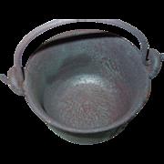 REDUCED Swett No. 5 Cast Iron Pot Bailed Kettle Lead Melting Glue Cauldron Smelting Bowl