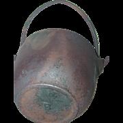 Cast Iron Pot Marked B Bailed Kettle Lead Melting Glue Cauldron Smelting Bowl