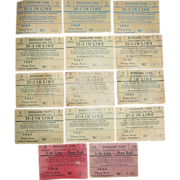 REDUCED Roseland Amusement Park Canandaigua NY Skee Ball Roll 21-3 In Line Coupons 1966-69