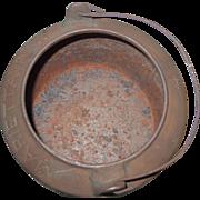 Marietta Pa #4 Cast Iron Glue Pot Gate Marked Bailed Kettle Double Boiler Lead Melting