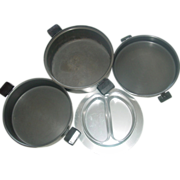 """Miracle Maid West Bend 12"""" Dutch Oven Pan Soup Pot Anodized Aluminum Steamer Insert"""