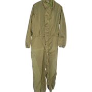 REDUCED Military Coveralls Cold Weather Size Small Mechanics Vietnam War Era OD 1973