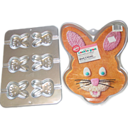 REDUCED Wilton Easter Giant Mini Bunny Cookie Treat Pans Aluminum 2105-6205 & 2105-8106