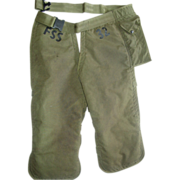 REDUCED Chainsaw M-1989 Safety Chaps Government Forest Service Military OD Adjustable Pants