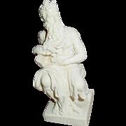 A. Santini Michelangelo's Moses Resin Composite Sculpture 10 Commandments