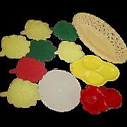 Stanhome Spoon Rest Hofmann Flower Snack Tray Leaf Drink Coasters Plasmetl Bread