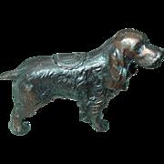 Irish Setter Dog Liberty Bell Souvenir Philadelphia Miniature Solid Pot Metal