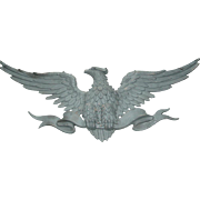 "SOLD Sexton Patriotic Eagle Wall Art Hanging Large 40"" Cast Aluminum USA"
