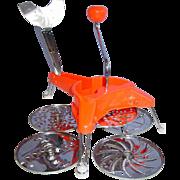 Mouli Style Julienne Orange Plastic Rotary Slicer Chopper Shredder Grater Hong Kong