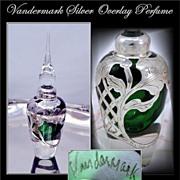 Vandermark Thick .999 Sterling Silver Overlay Perfume MInt!