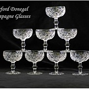 SOLD Waterford Donegal Champagne Tall Sherbet Glasses Signed
