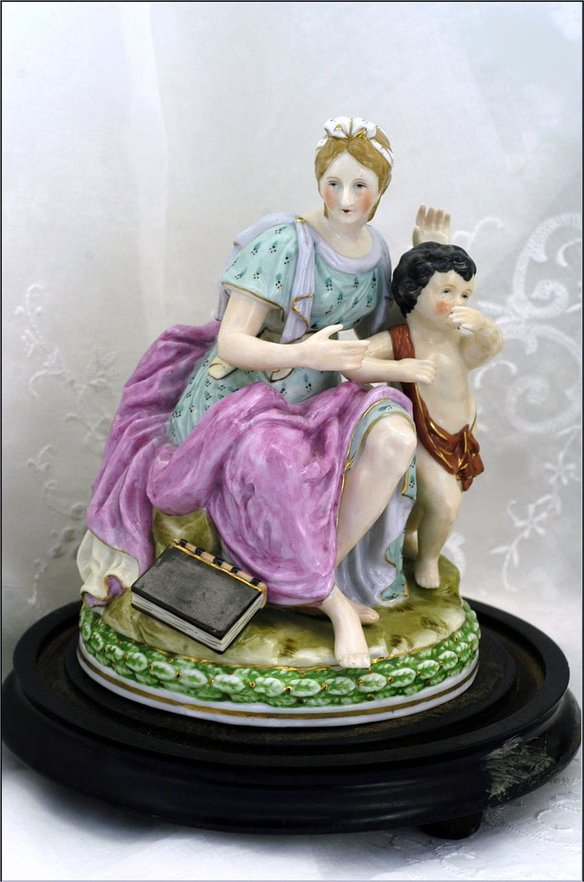 Good Continental Porcelain Figurine Hand Painted Gilt