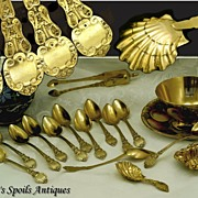 Antique French Restauration Era Vermeil Silver Tea Set w/ Original Box