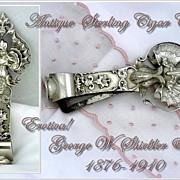 Antique Sterling Silver Cigar Cutter Shiebler 1876-1910