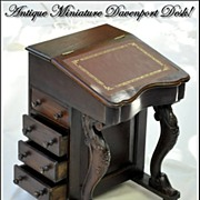 SALE Antique Miniature Davenport or Captain's Desk